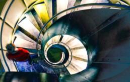 Treppen von oben oder unten fotografiert sind immer ein schönes Motiv.